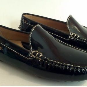 LANDS' END Solid Black PATENT LEATHER SZ 7.5 NEW